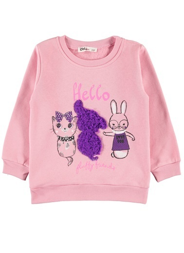 Civil Girls Kız Çocuk Sweatshirt Pembe